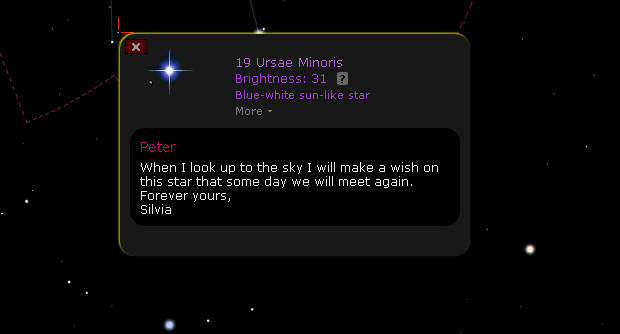 Star message example